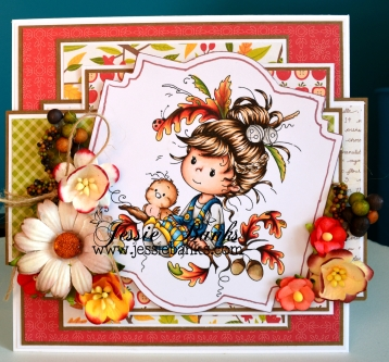 Wee Stamps Oak Tree Girl 1