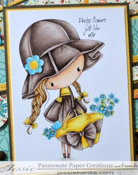 ADU Little flower girl close up