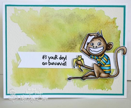 Kraftin Kimmie stamps - Monkey Buisness