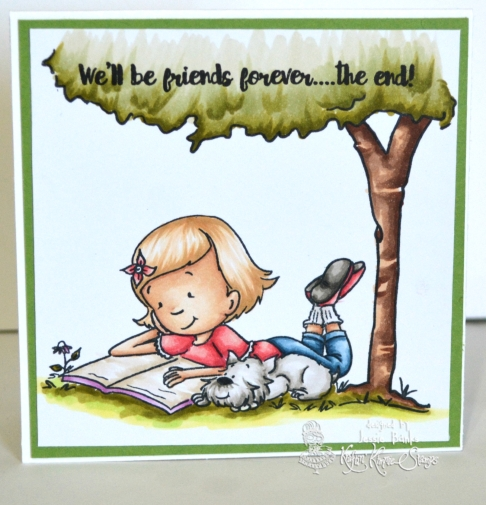 Kraftin Kimmie Stamps - Reading Lexi - Jessie Banks