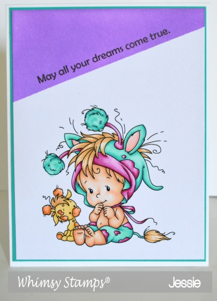 Whimsy Stamp - Baby Giraffe - Jessie Banks