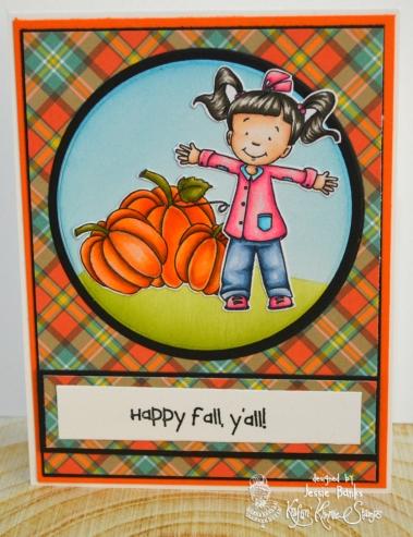 Kraftin Kimmie Stamps - Happy Fall yall - Jessie Banks