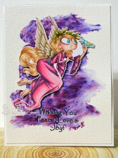 Kraftin Kimmie Stamps - agelica angel - Jessie Banks