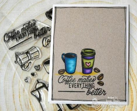 Kraftin Kimmie Stamps - A Brew-tiful day - Jessie Banks