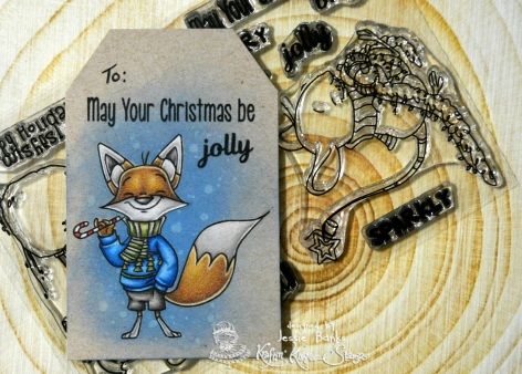 Kraftin kimmie stamps - Furry Holiday Wishes 1 - Jessie Banks