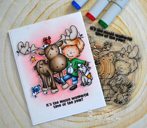 Kraftin Kimmie Stamps - Merry Christ-Moose - Jessie Banks