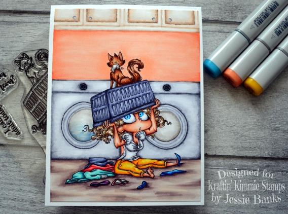 Kraftin Kimmie Stamps - Loretta Laundry - Jessie Banks