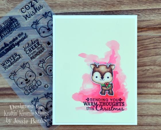 Kraftin Kimmie Stamps - Reindeer Games - Jessie Banks