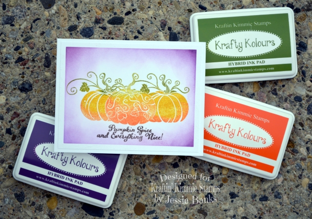 Kraftin Kimmie Stamps - Grateful Pumpkins - Jessie Banks