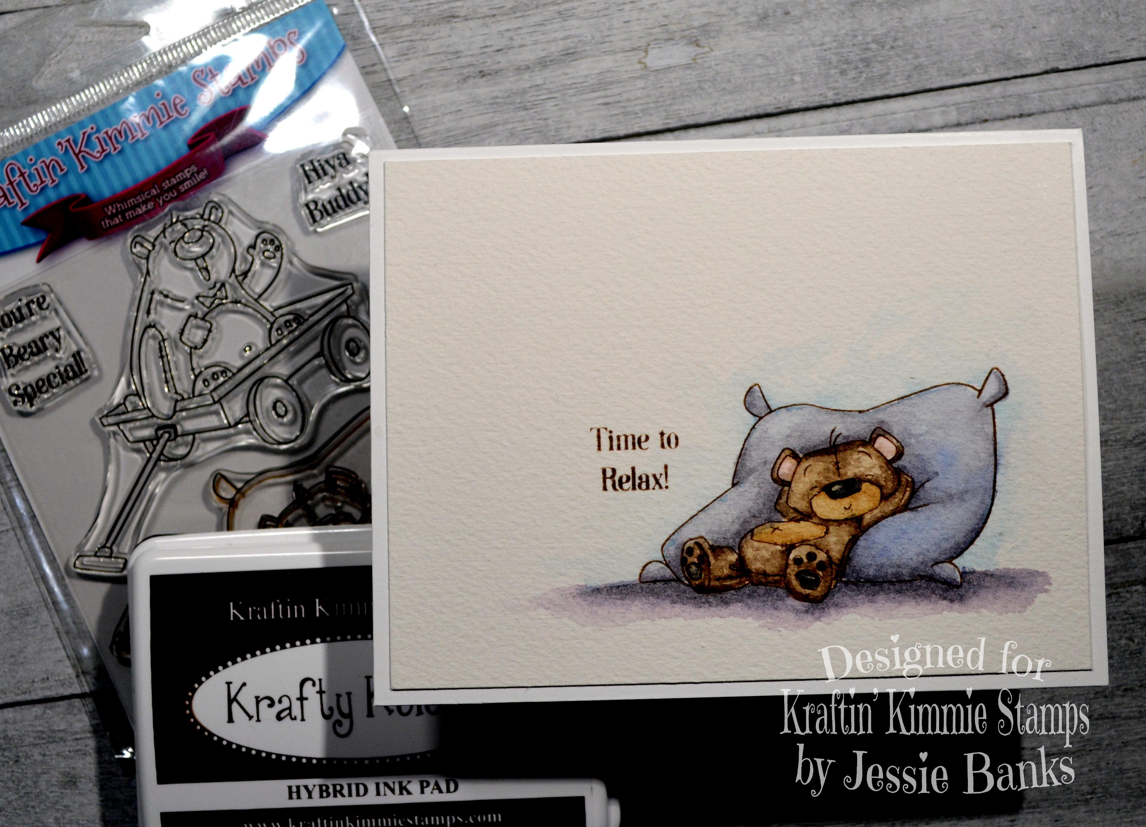 Kraftin Kimmie Stamps - Buddy Bears 1 - Jessie Banks