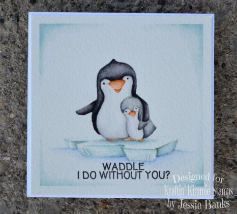 Kraftin Kimmie Stamps - Perky Penguins - Jessie Banks