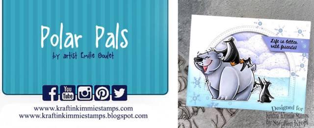 Kraftin Kimmie stamps - Polar Pals - Jessie Banks