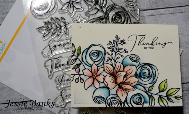 Simon Says Stamp - Sketched Flowers - Jessie Banks