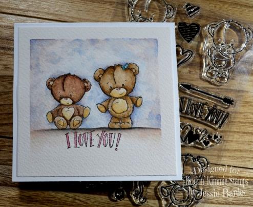 kraftin kimmie stamps - beary love - jessie banks