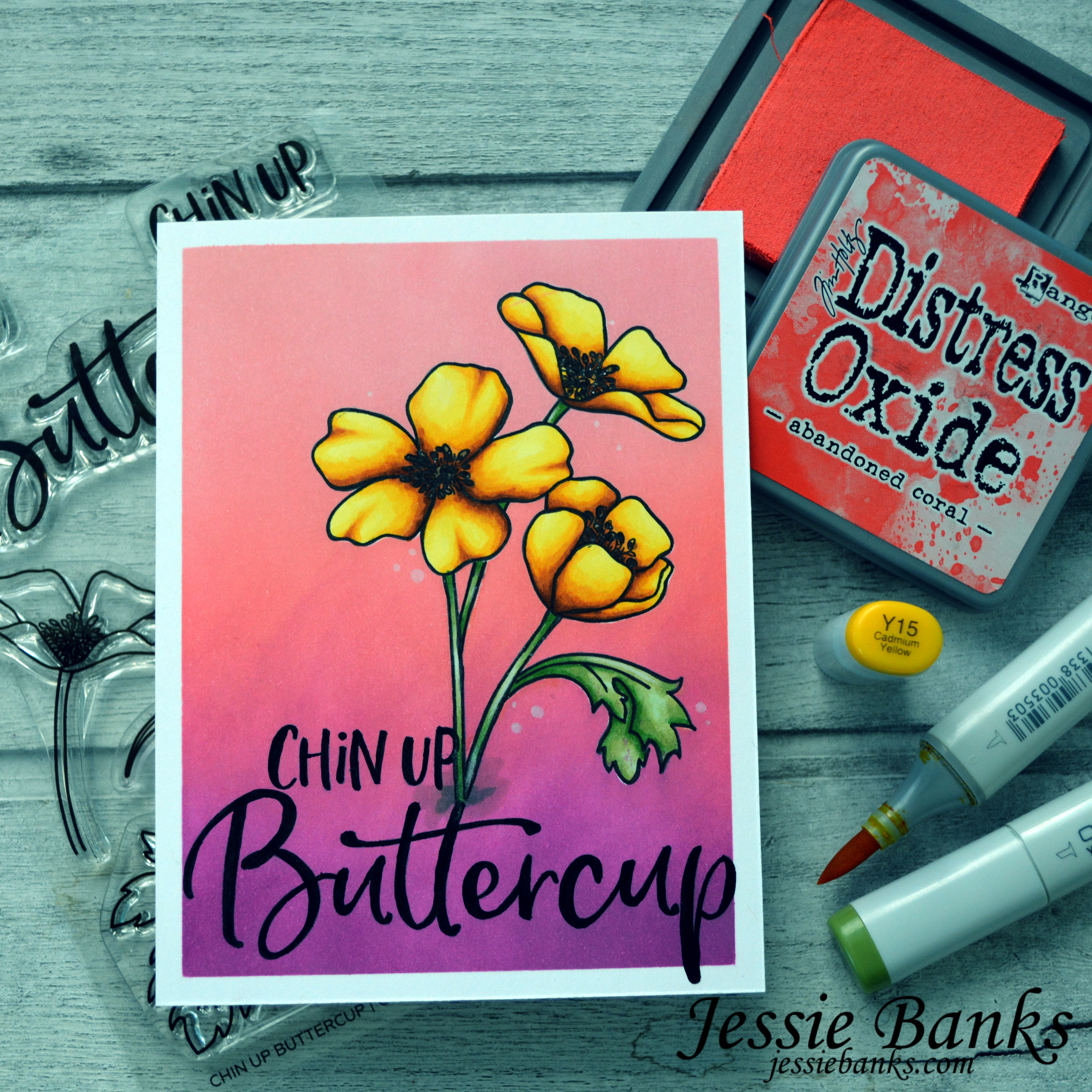 Honey Bee Stamps - Chin Up Buttercup - Jessie Banks