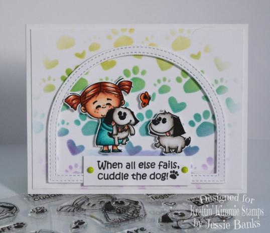 Kraftin Kimmie Stamps - Cuddles The Puppy - Jessie Banks