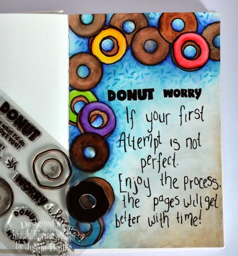Kraftin Kimmie Stamps - Donut Worry - Jessie Banks